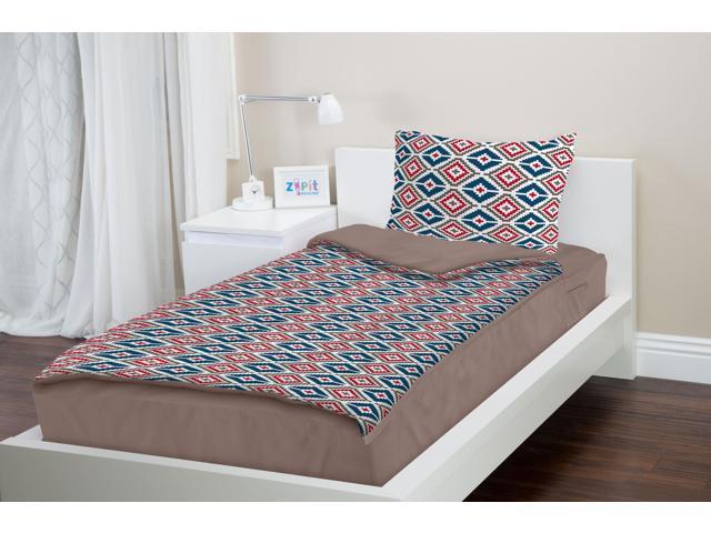 Zipit Bedding Set Full Purple Hearts Zip Up Your