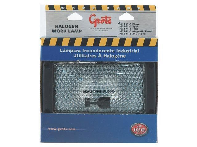 GROTE 63151-5 Rectangular Halogen Work Lamp