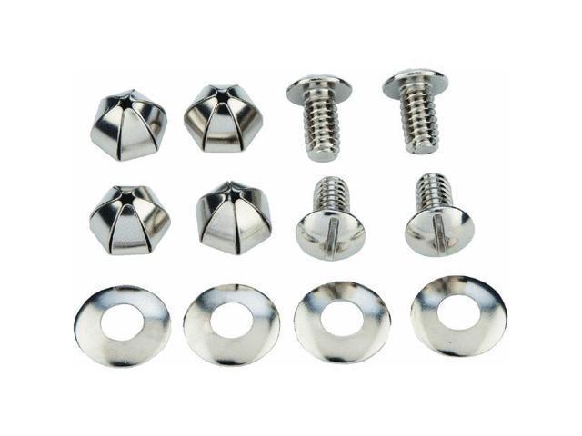 Custom Accessories 94445 Metal License Fasteners-METAL LICENSE FASTENER