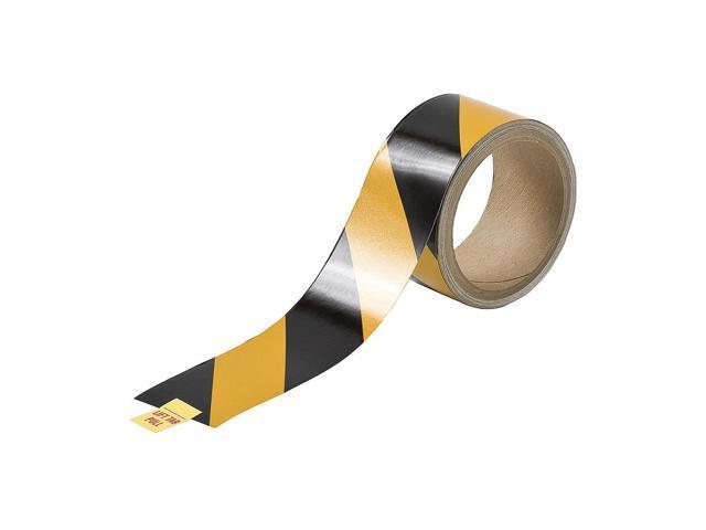 Black/Yellow Stripes Reflective Marking Tape, Brady, 763082
