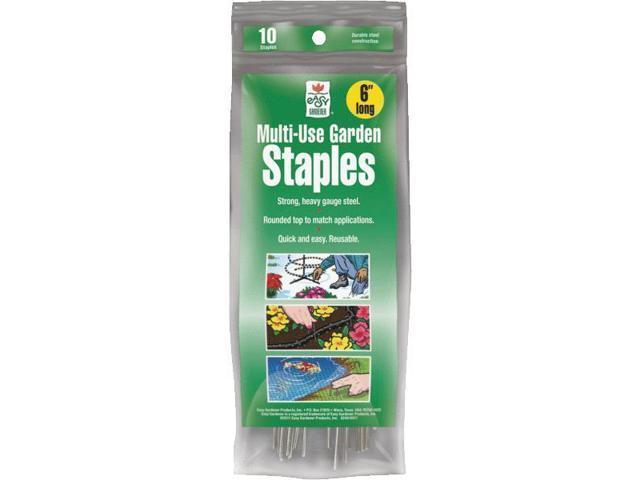 Easy Gardener-Multi-use Garden Staples 6 Inch/10 Pack