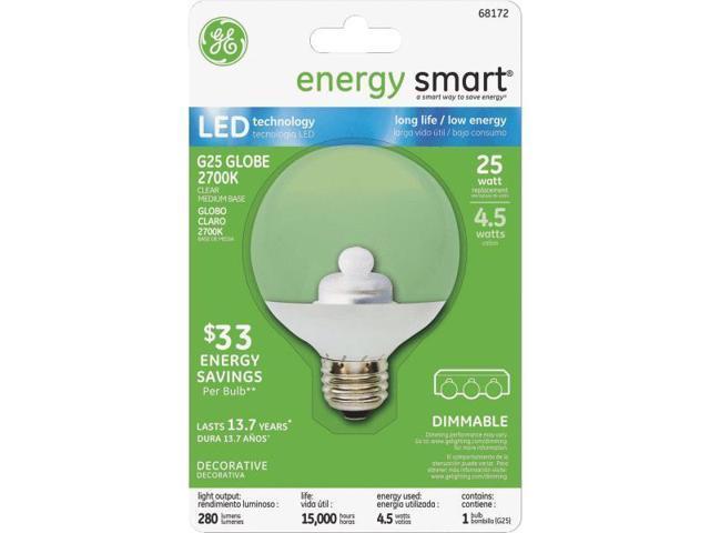 GE Lighting 4.5w Clear G25 LED Globe 68172