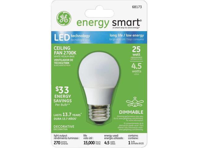 GE Lighting 4.5w White Fan LED Bulb 68173