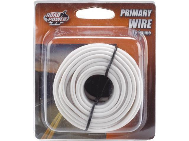 Woods Ind. 16-1-17 PVC-Coated Primary Wire-24' 16GA WHT AUTO WIRE