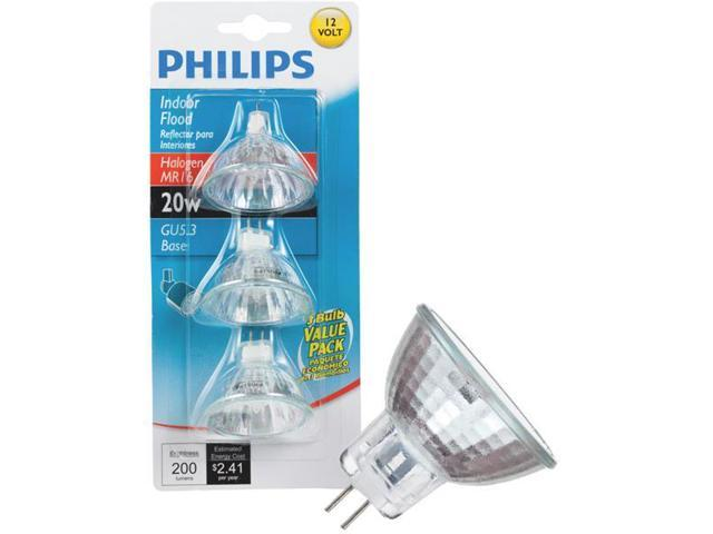 Philips Lighting Co 3 Pack 20w Gx5.3 Mr16 Bulb 415687