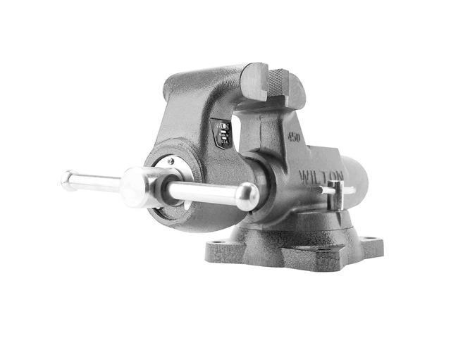 Machinist's Vise, Swivel, 3-1/2 In Jaw, DI