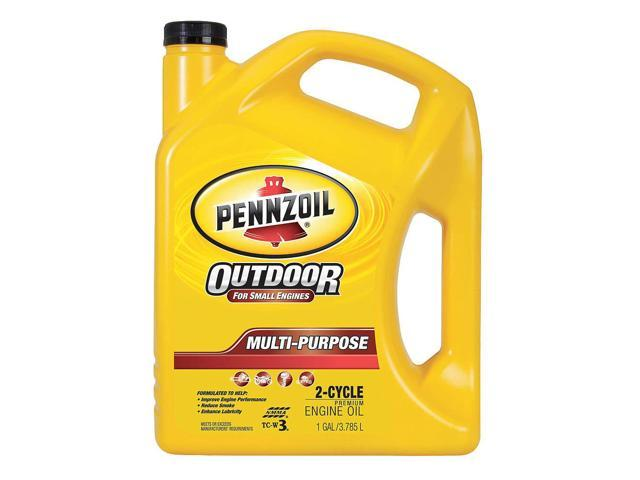 PENNZOIL 550022731 Marine 2-Cycle Oil,1 gal.,40W,Bottle
