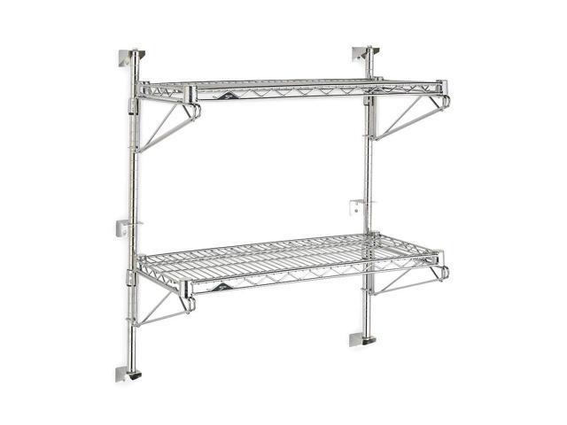 Wall Mounted Wire Shelving, Chrome ,Metro, SW53C-2-2448 - Newegg.com