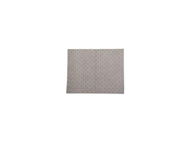 Brady Spc Absorbents Absorbent Pad, Universal, Light Gray   LABS110SGL
