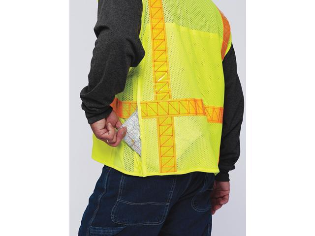 ML KISHIGO S7001/M High Visibility Vest, Class 2, M, Orange