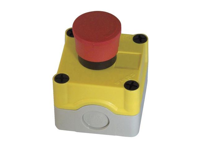 GE GE-ESNM Emergency Push Button Station, Red
