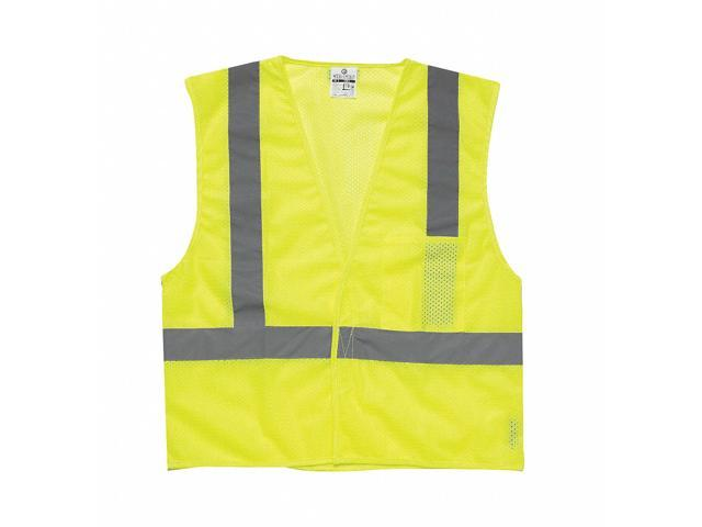ML KISHIGO 1083-6X High Visibility Vest, Class 2, 6XL, Lime