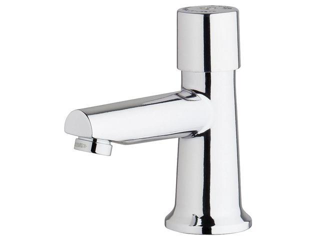 CHICAGO FAUCETS 3500-E2805ABCP Metering Faucet, Metering, 0.5 gpm, Deck