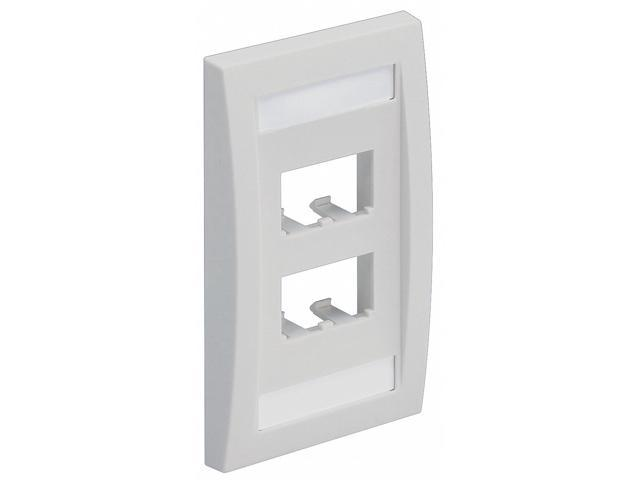 Faceplate, Single Gang, 4 Ports, Off White