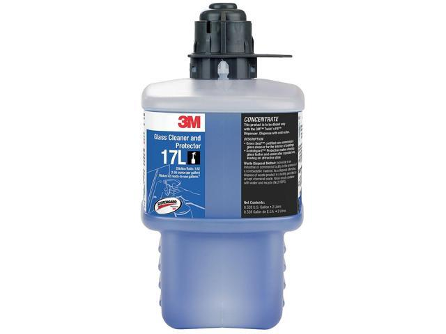 3m 67.63 oz. Glass Cleaner and Protector, 1 EA 67.63 oz. Clear Blue   17L