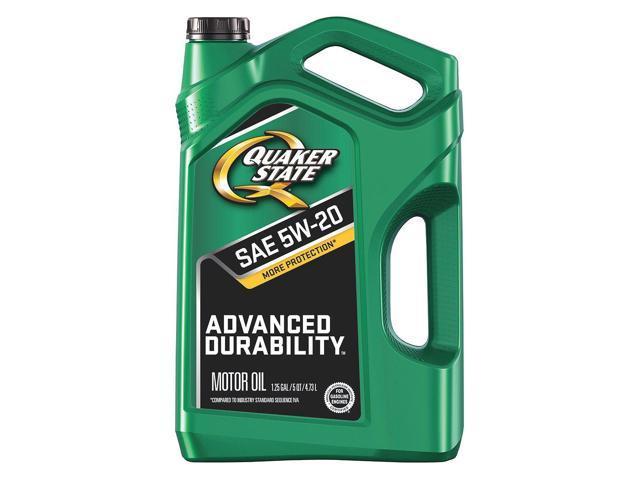Quaker state 550038290 motor oil advancd durability 5 qt for Quaker state conventional motor oil