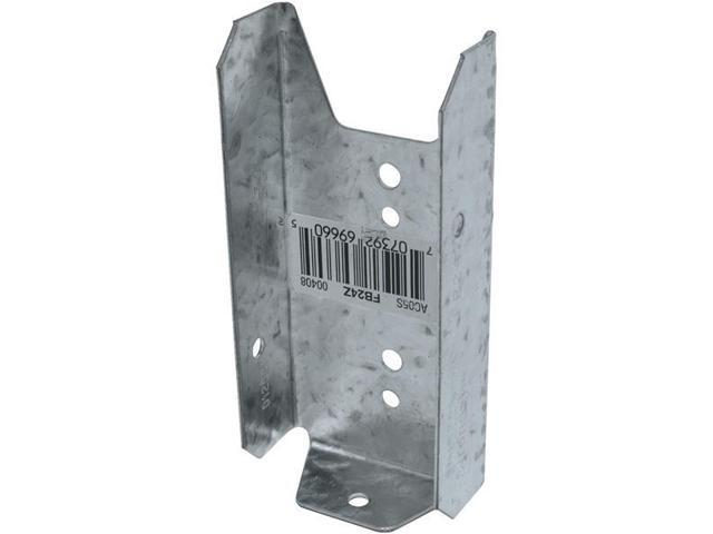 Simpson Strong-Tie 2X4 Fence Bracket Z-Max FB24Z Unit: EACH Contains 100 per case