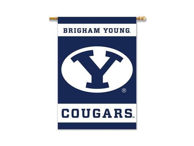 BSI Products 96083 Brigham Young Cougars- 2-Sided 28 in. X 40 in. Banner with Pole Sleeve