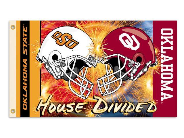 BSI Products 95919 Oklahoma- Ok St.- 3 ft. X 5 ft. Flag W-Grommets- Helmet House Divided