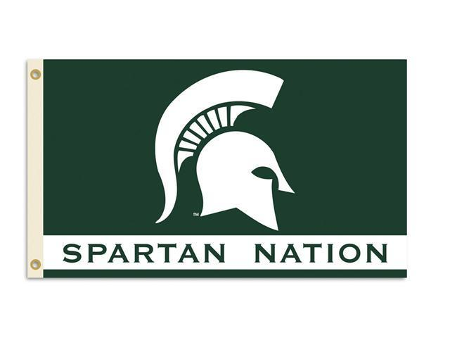 BSI Products 95229 Michigan State Spartans- 3 ft. X 5 ft. Flag W-Grommets