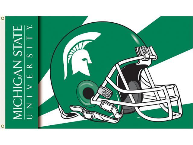 Bsi Products 95329 3 Ft. X 5 Ft. Flag W/Grommets - Helmet Design - Michigan State Spartans