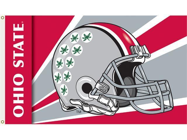 Bsi Products 95355 3 Ft. X 5 Ft. Flag W/Grommets - Helmet Design - Ohio State Buckeyes