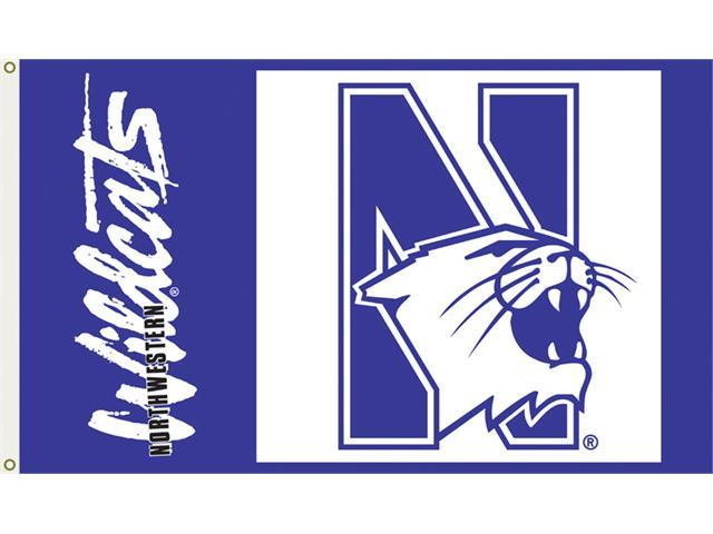 Bsi Products 95069 3 Ft. X 5 Ft. Flag W/Grommets - Northwestern Wildcats