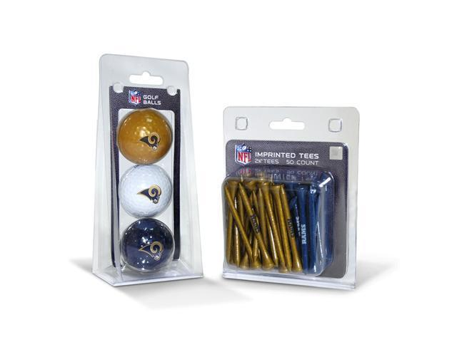 Team Golf 32599 State Louis Rams 3 Ball Pack and 50 Tee Pack