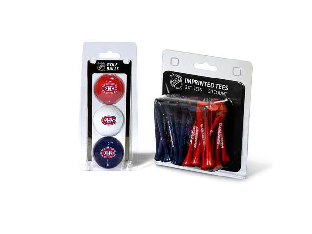 Team Golf 14499 Montreal Canadiens 3 Ball Golf and 50 Golf Tee