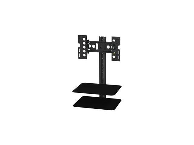 AVF ESL422B-T Tilt and Turn TV Mount with 2 AV Shelves, Cable Management System for 25-Inch to 40-Inch TV – Black