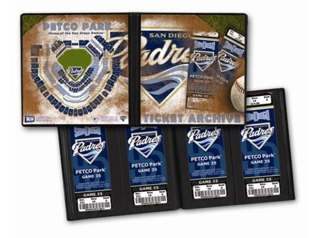 Ticket Album MLB - San Diego Padres (Holds 64 Tickets)