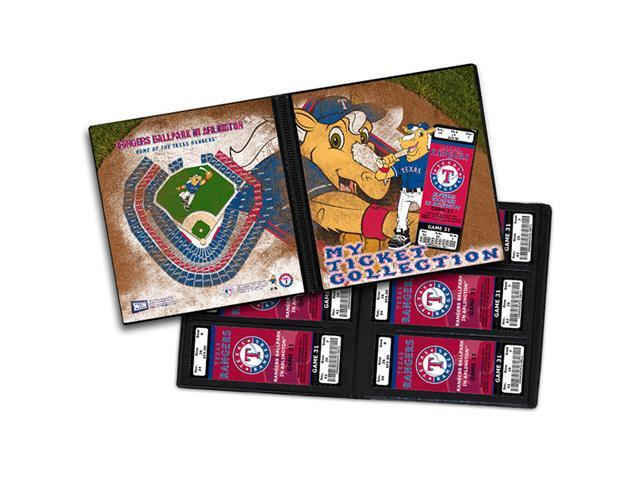 Ticket Album MLB - Texas Rangers Mascot (Holds 96 Tickets)