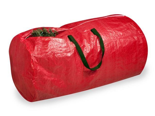 Honey-Can-Do SFT-01316 Tree Storage Bag, Red w/ Green Handles