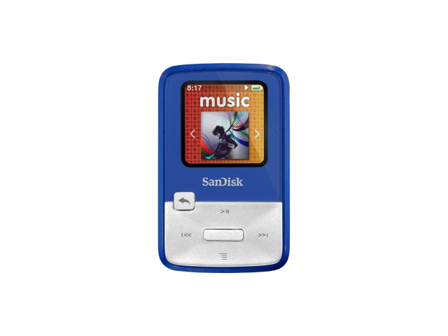 SanDisk Sansa Clip Zip Teal 4GB MP3 Player SDMX22-004G-A57T