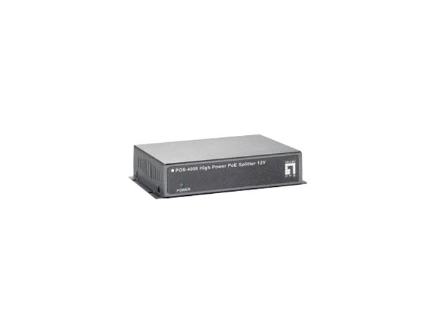 LevelOne POS-4000 High Power PoE Splitter 12V 30W Indoor