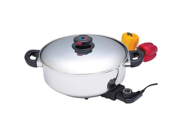 Precise Heat 12 in. S.S Dp Skillet-Slow Cooker