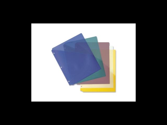 Binder Pockets Poly Letter 8-1/2