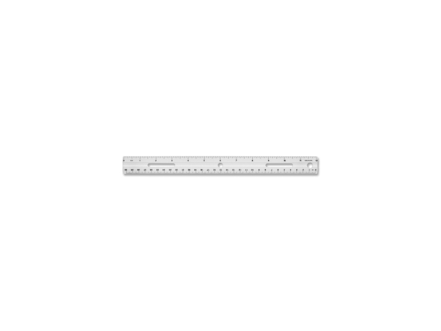 Plastic Ruler Beveled Edges 12