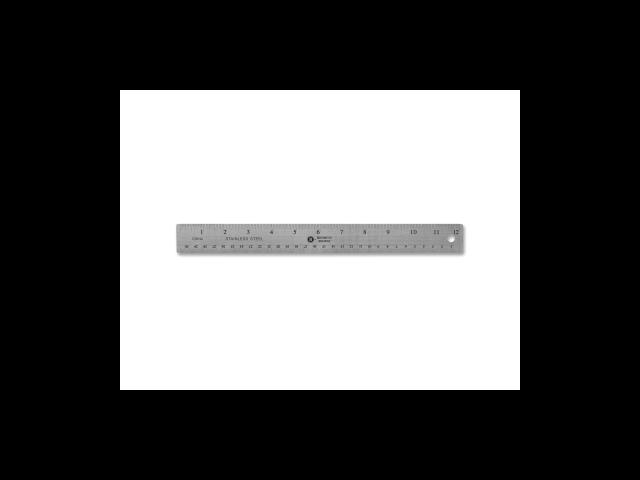 Stainless Steel Ruler 12