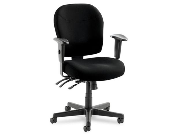 Alera Wrigley Series 24/7 High Performance Mid-Back Multifunction Chair, Black