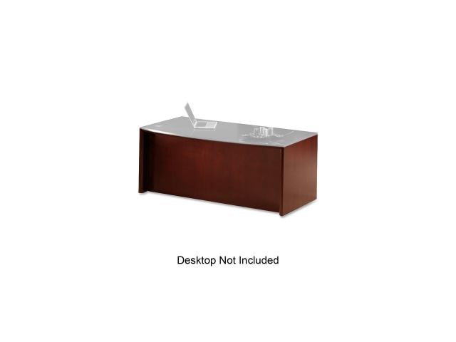 "Mayline CDBCRY Corsica Reception Desk Base 72"" Width x 36"" Depth x 29.5"" Height - Beveled Edge - Veneer, Wood - Cherry, Sierra ..."