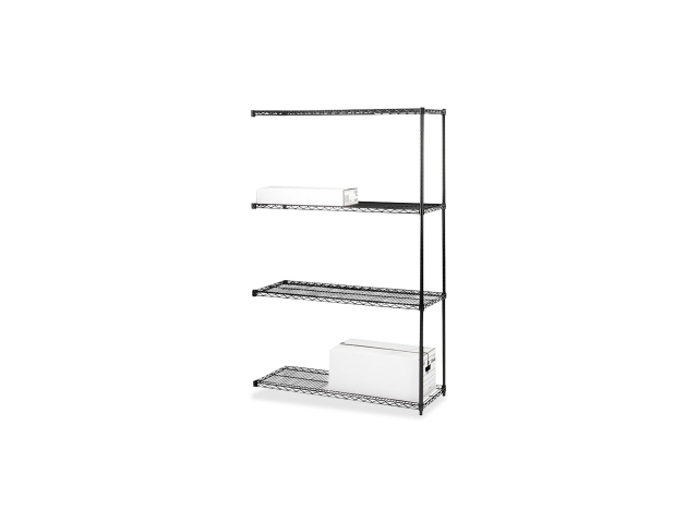 Add-On Wire Shelving 4Shelves/2Posts 36