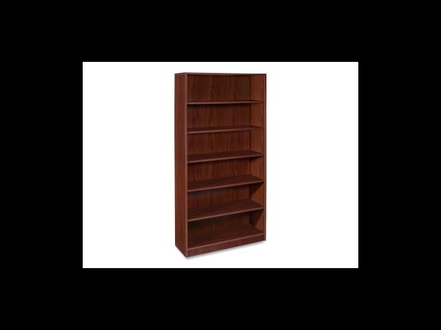 6-Shelf Bookcase 1 Fixed Shelf 36