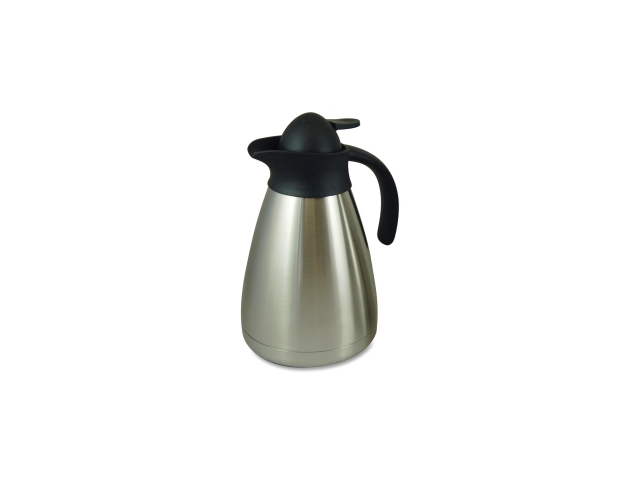 Genuine Joe 11957 Contemporary Vacuum Carafe 1.0L. Brushed Stainless Steel
