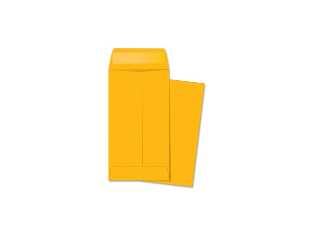 Business Source 4446 Coin Envelopes, No. 7, 28lb., 500/BX, Brown Kraft BSN04446