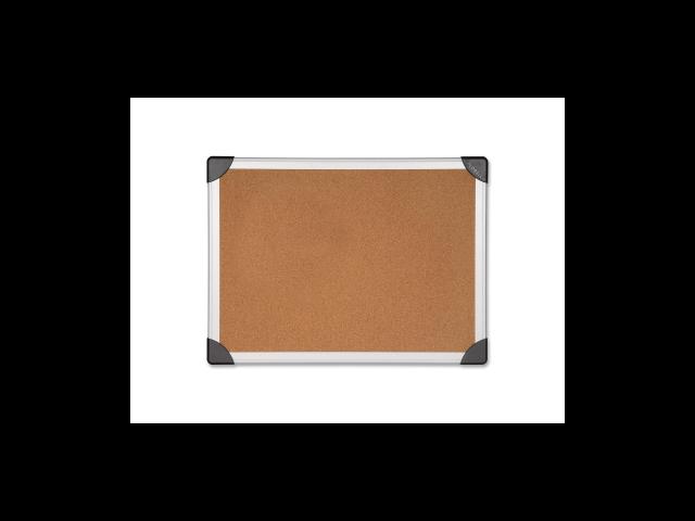 Cork Board 8'x4' Aluminum Silver/Brown