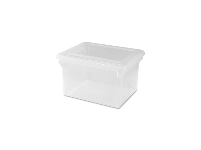Lorell 68925 Letter/Legal Plastic File Box Stackable - 14.2