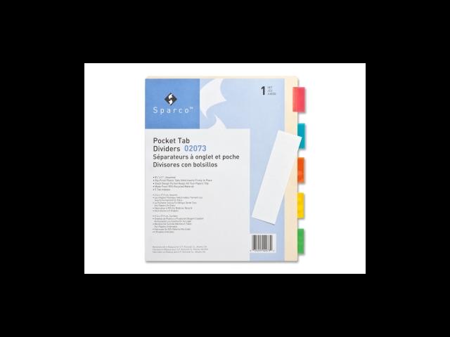 Ring Binder Dividers w/ Pocket 5-Tab 11