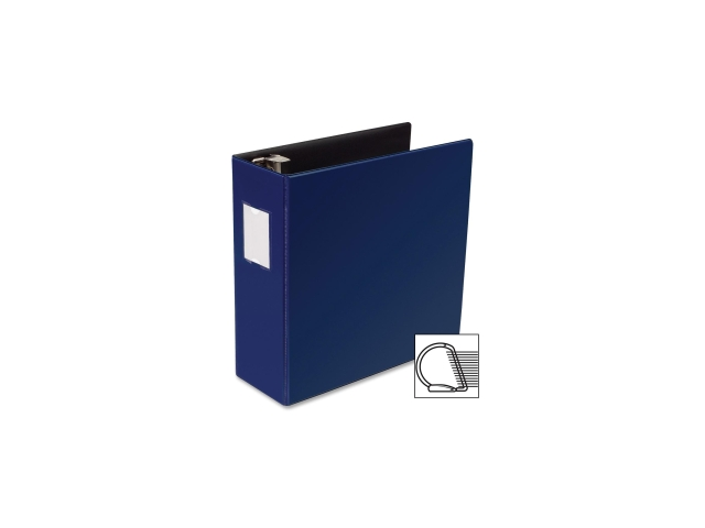 D-Ring Binder w/Label Holder Hvy-Dty 4