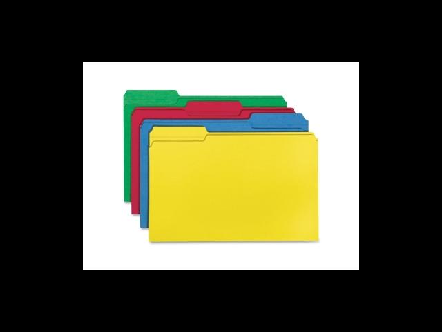 Color File Folders Legal 11PT 1/3 Cut 1